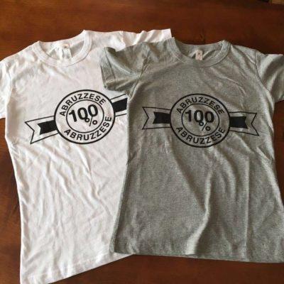 T-shirt 100% ABRUZZESE donna